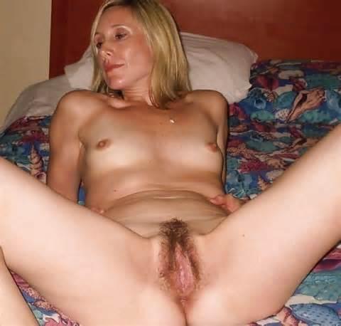 Amateur Blonde harige MILF Pussy