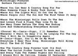 Mississippi Pussycat teksten en akkoorden als PDF bestand voor downloaden